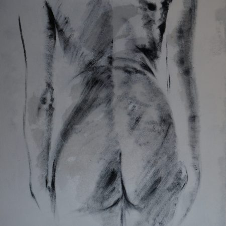 Pop K Nude 81x100cm  mixed media